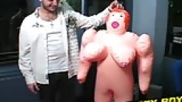 Jay has got a new doll and he gives it a proper test ride