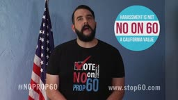 "Jonny McGovern says ""Vote No on Prop 60"""
